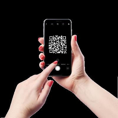 Stap 1: Je klanten scannen de QR code